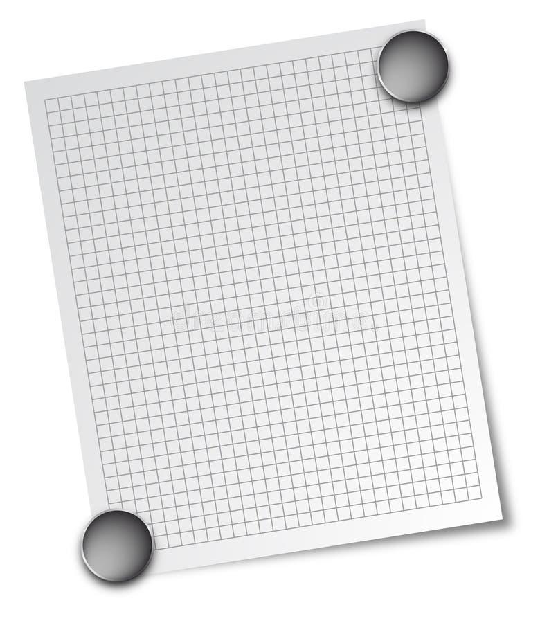 Anmerkung mit Magneten stock abbildung