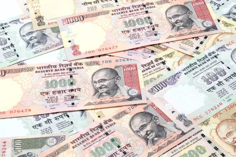 Anmerkungen der indischen Rupie stockfoto