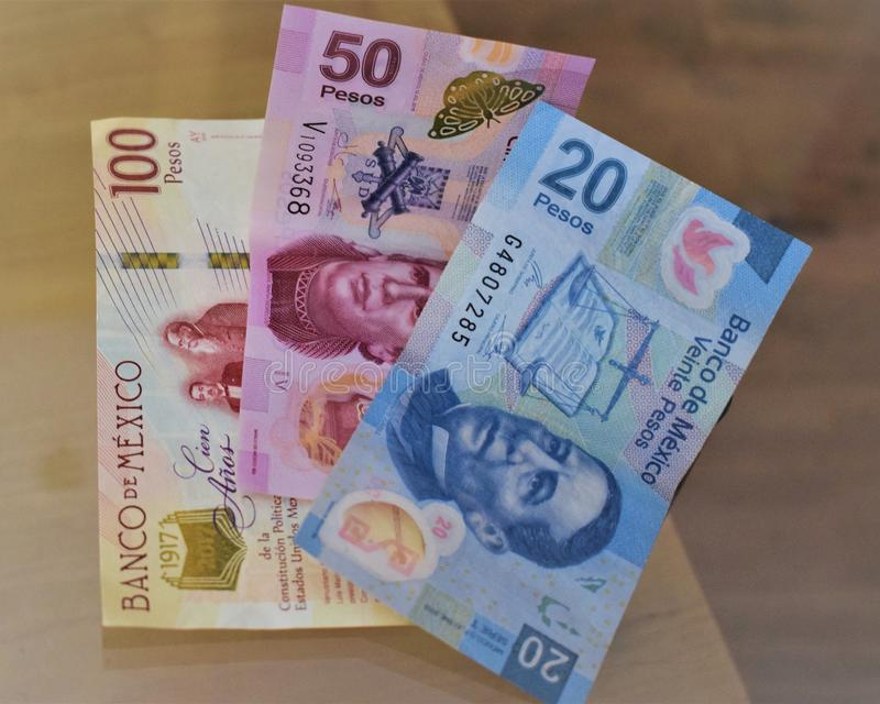 Anmerkungen der mexikanischen Pesos III stockfotografie