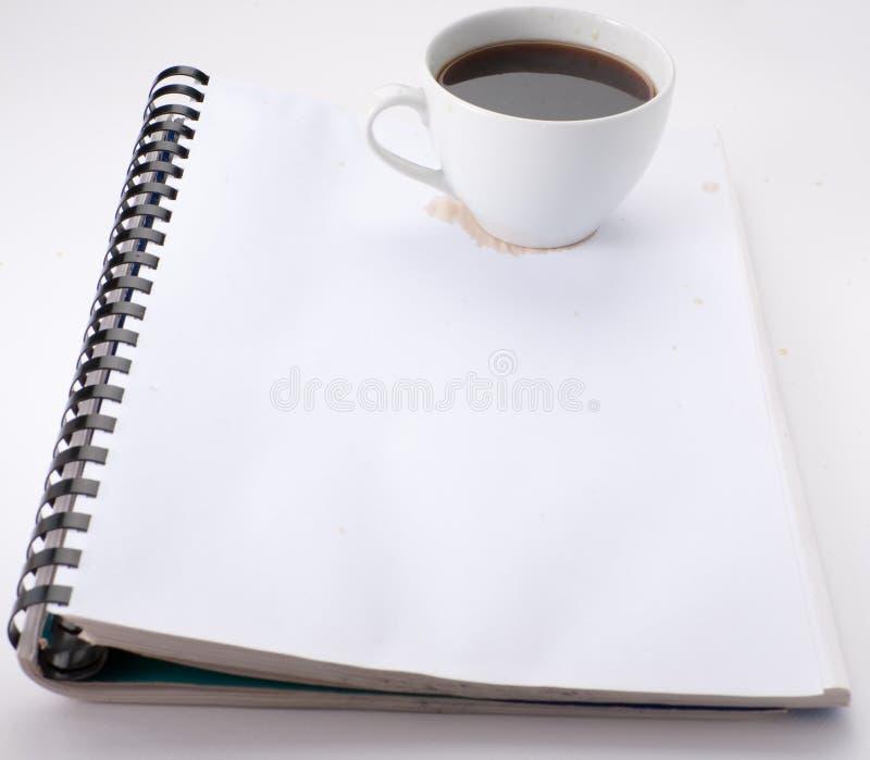 Anmerkungen mit Kaffee stockfotografie