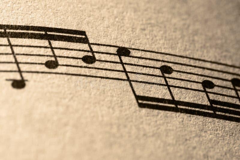 Anmerkungen von Musik lizenzfreie stockbilder