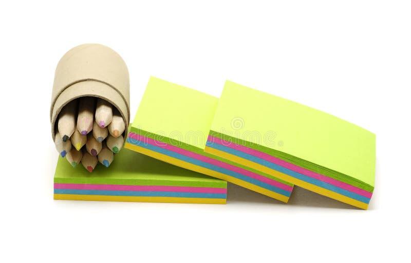 Anmerkungs-Papier lizenzfreie stockbilder