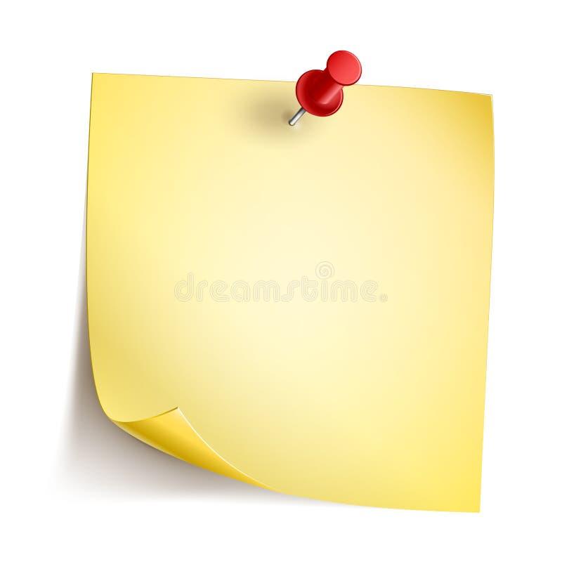 Anmerkungs-Papier vektor abbildung