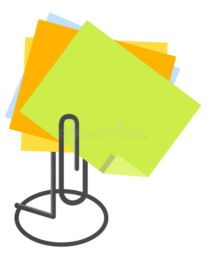 Anmerkungs-Papier-Halterung vektor abbildung