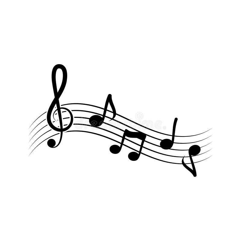 Anmerkungsmusik-Vektorillustration lizenzfreie abbildung