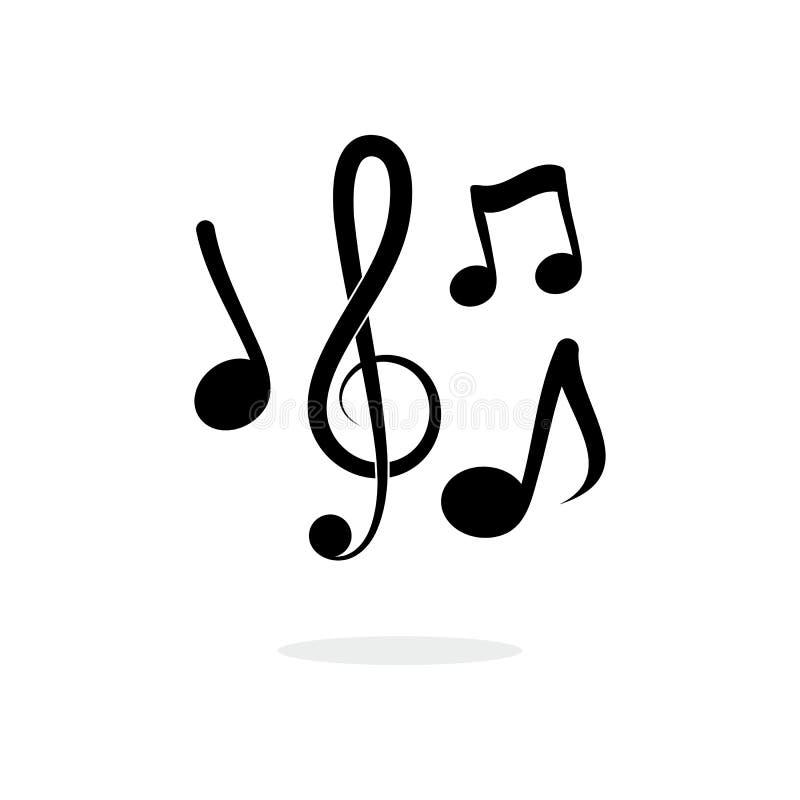 Anmerkungsmusik-Vektorillustration stock abbildung