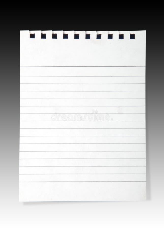 Anmerkungspapier stockbild