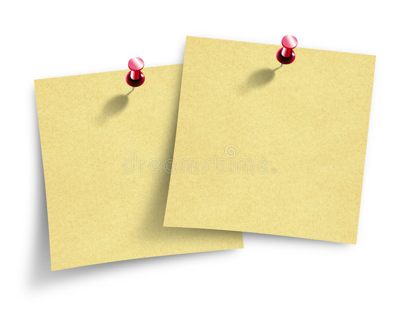 Anmerkungspapiere lizenzfreies stockbild