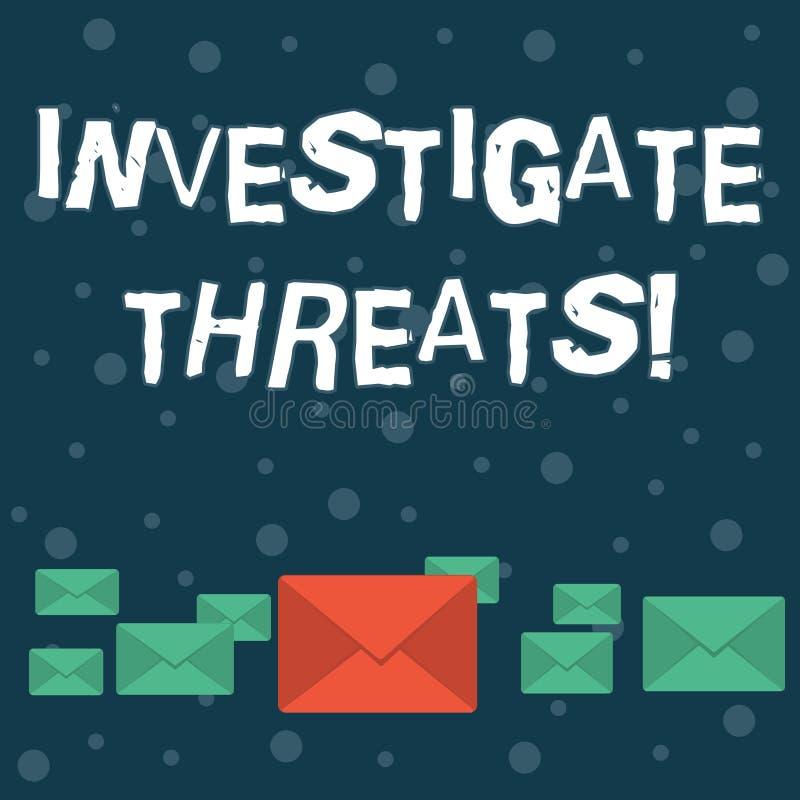 Anmerkungsvertretung schreibend, forschen Sie Drohungen nach Zur Schau stellendes Geschäftsfoto, eine systematische Untersuchung  lizenzfreie abbildung