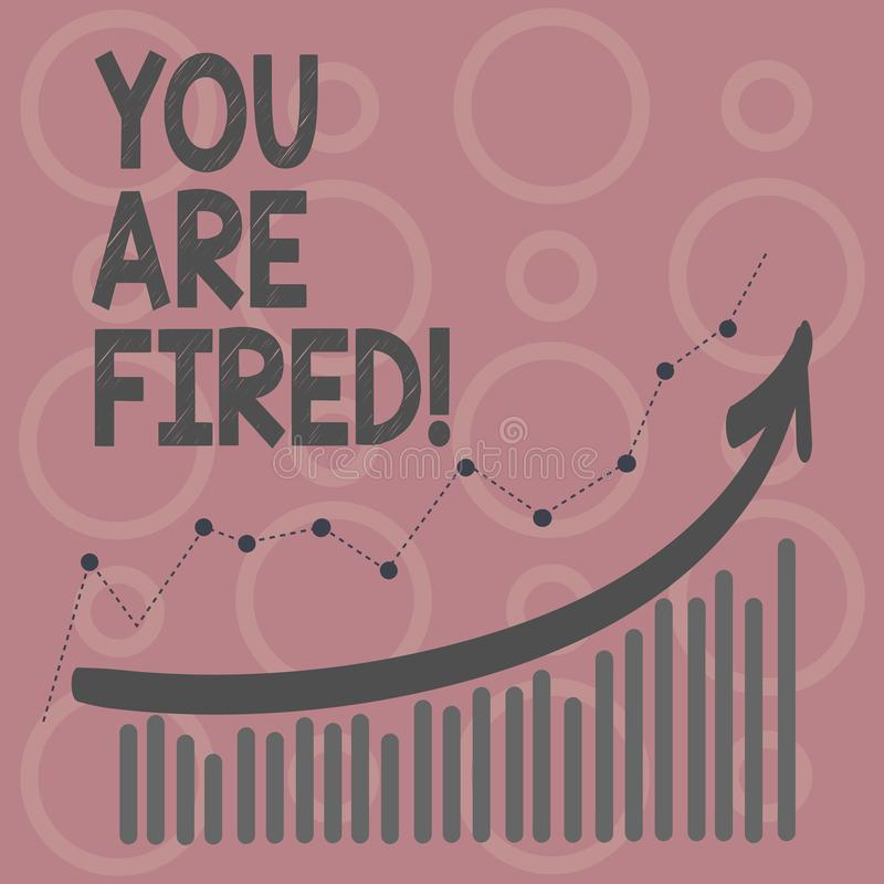 Anmerkungsvertretung Sie schreibend, werden abgefeuert Geschäftsfoto Präsentationsc$hinausgehen vom Job und arbeitsloses nicht En stock abbildung