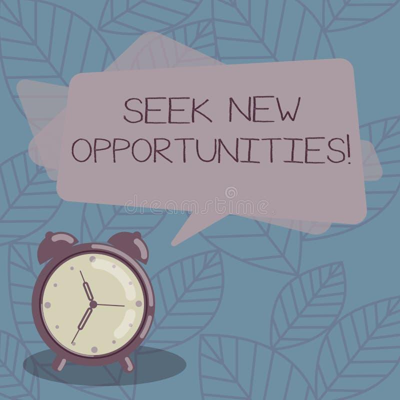 Anmerkungsvertretung Suchvorgang neue Gelegenheiten schreiben Geschäftsfoto, das einem neuen Job oder nach einem anderen Unterneh stock abbildung
