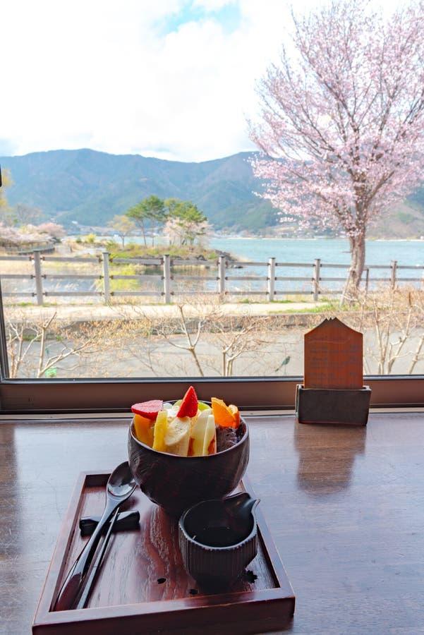 Anmitsu, un dessert freddo tradizionale del dessert di stile giapponese immagini stock libere da diritti