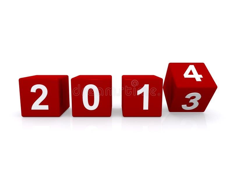 Année 2014 illustration stock