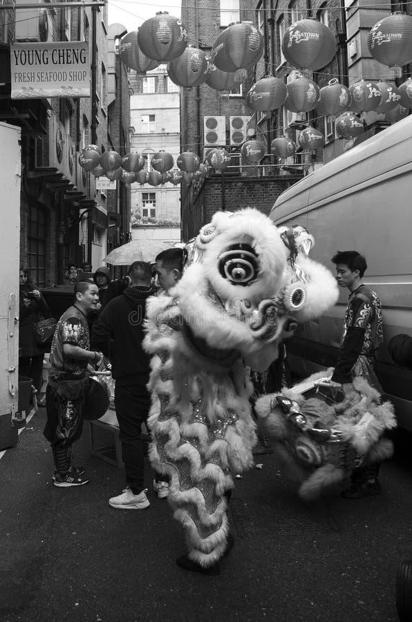 Année chinoise de Londres nouvelle photographie stock
