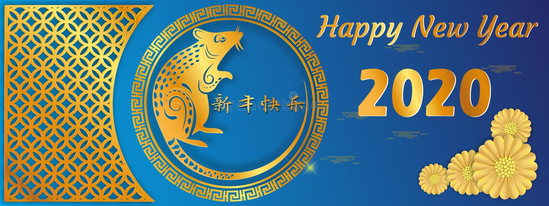 Année chinoise de signe de zodiaque de rat, rat coupé de papier rouge, nouvelle année chinoise heureuse 2020 ans de la traduction photo stock