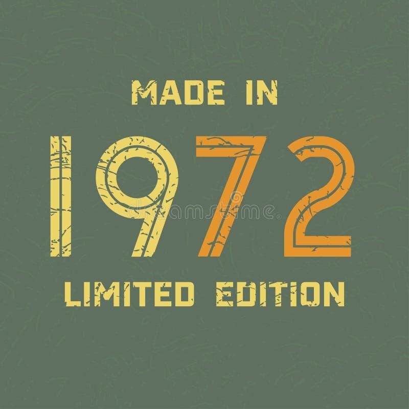 Année d'illustration de vecteur, timbre sur le gilet, conception d'habillement de cru illustration libre de droits