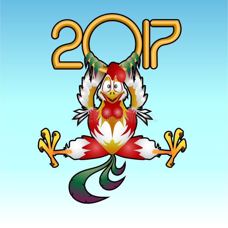 2017- Année du coq images stock