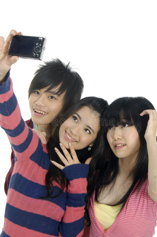 années de l'adolescence asiatiques photo stock