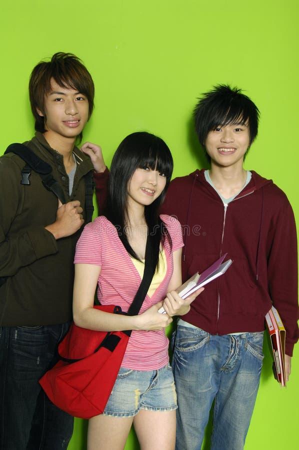 années de l'adolescence de l'Asie images stock