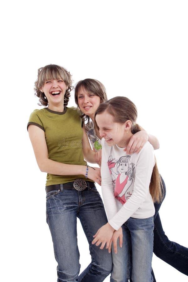 Années de l'adolescence riantes photos stock