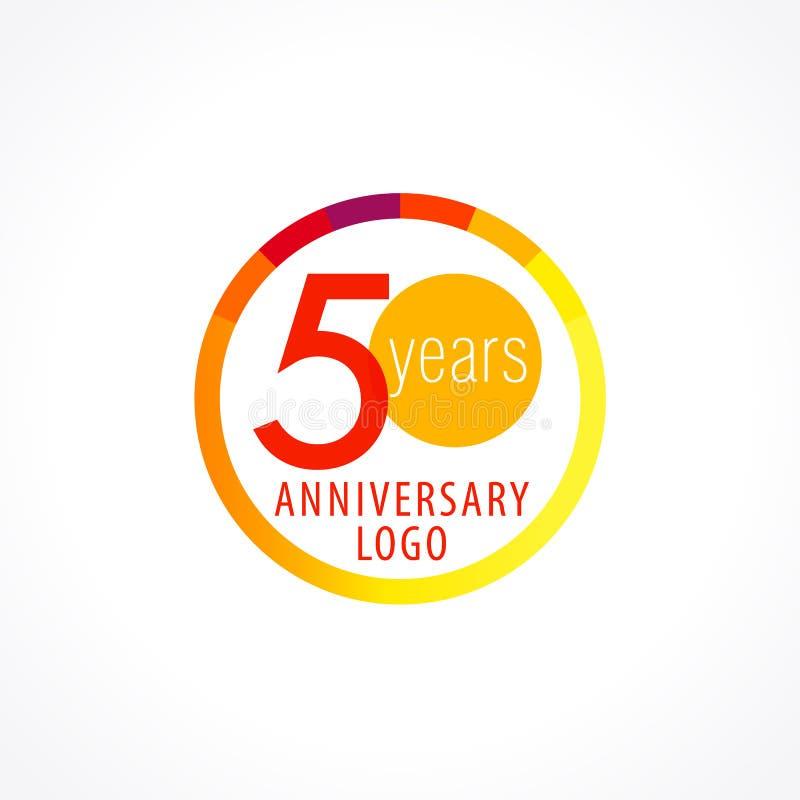 50 années de logo de cercle illustration de vecteur