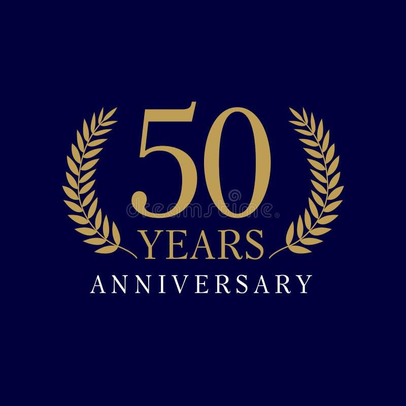50 années de logo luxueux illustration libre de droits