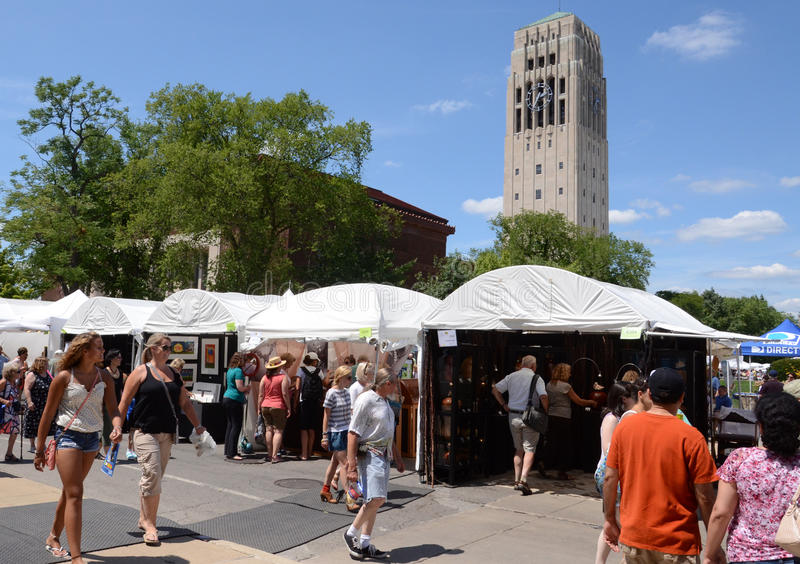 Download Ann Arbor Art Fair And Campus Editorial Stock Image - Image: 25983624