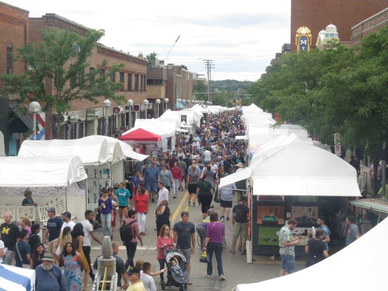 Ann Arbor Art Fair su State Street fotografie stock