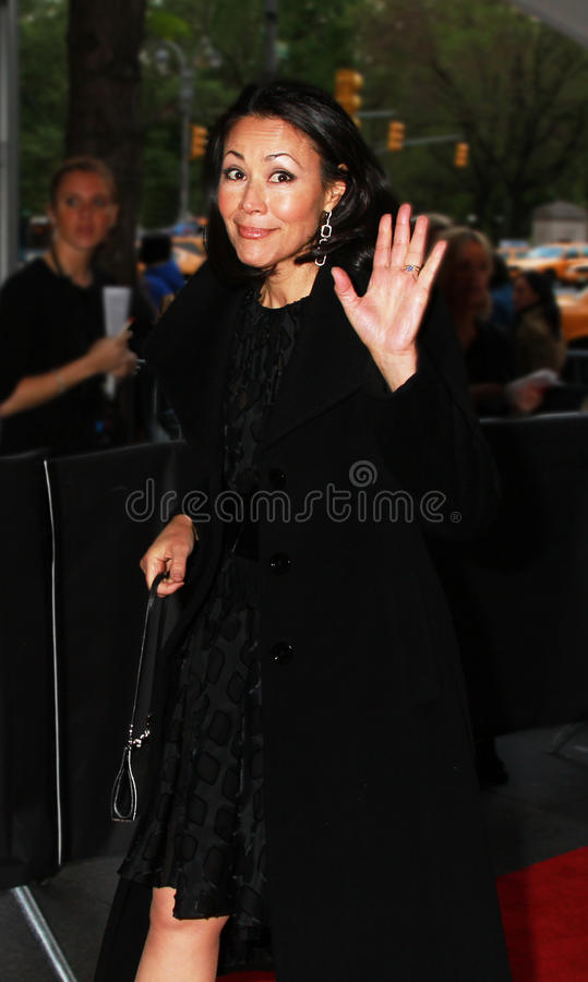 Ann Curry. NBC-TV's Today Show co-host Ann Curry arrives outdoors on the red carpet at the Time Warner Center in New York City for Time's 100 Most Influential royalty free stock photography