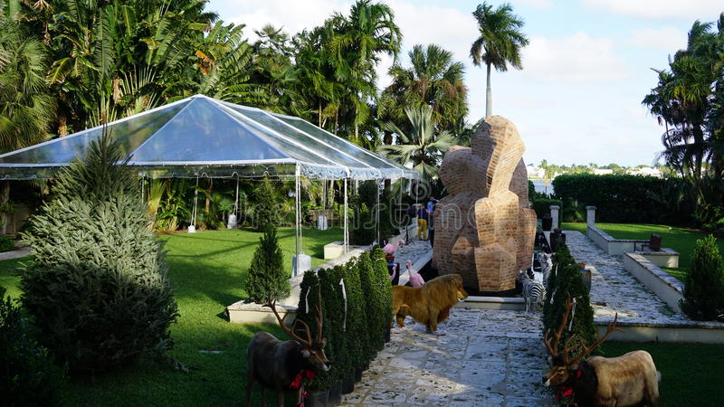 Ann Norton Sculpture Gardens, het Westenpalm beach, Florida stock foto's