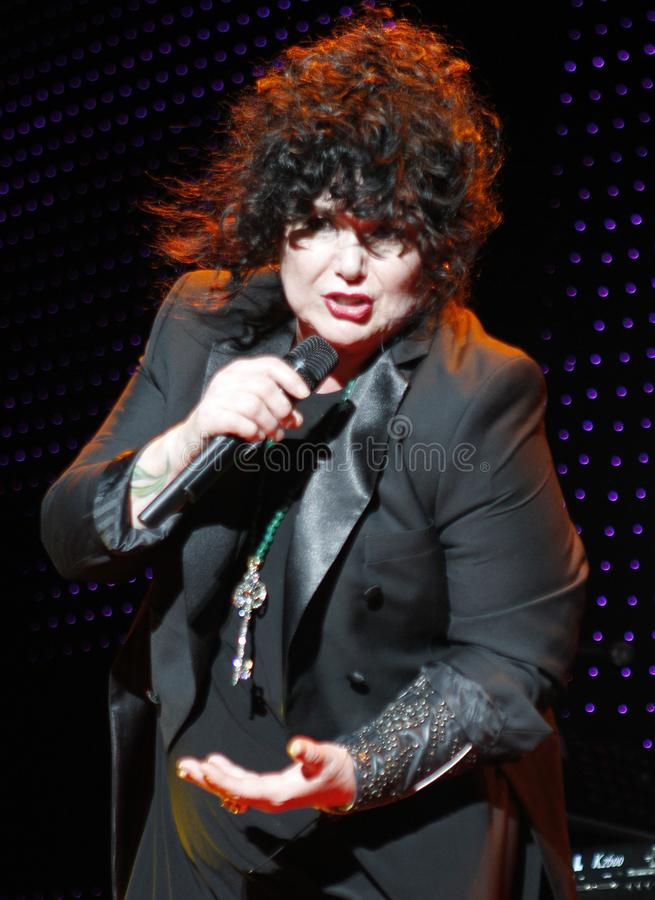 Heart performs in concert. Ann Wilson with Heart performs in concert at the Cruzan Amphitheater in West Palm Beach, Florida on June 15, 2011 stock photos