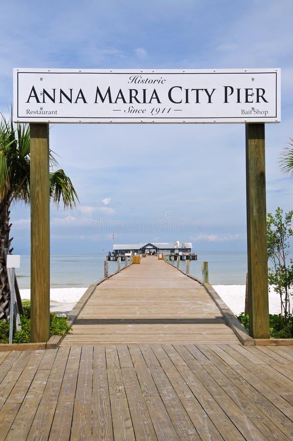 Anna Μαρία City Pier στοκ εικόνα