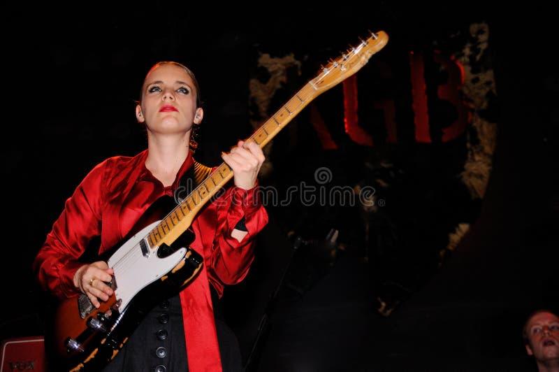 Anna Calvi (band) performs at KGB royalty free stock photography