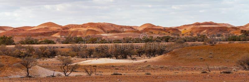 Anna Creek Painted Hills s?dra Australien, Australien royaltyfria bilder