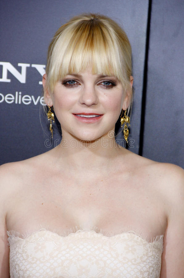 Anna Faris. At the Los Angeles premiere of 'Zero Dark Thirty' held at the Dolby Theatre in Hollywood on December 10, 2012 royalty free stock image