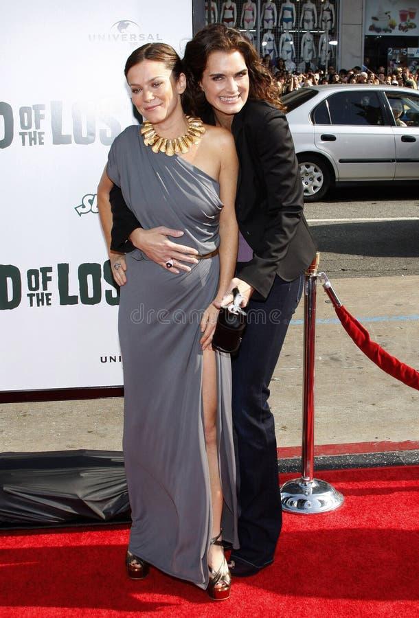 Anna Friel en Brooke Shileds stock fotografie