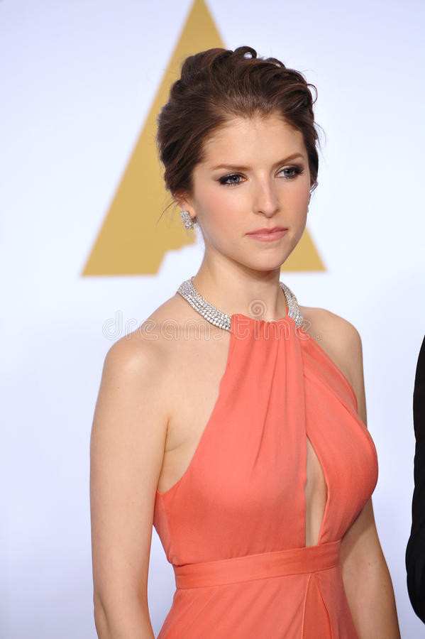 Anna Kendrick. LOS ANGELES, CA - FEBRUARY 22, 2015: Anna Kendrick at the 87th Annual Academy Awards at the Dolby Theatre, Hollywood royalty free stock photos