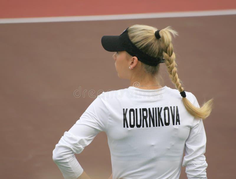 Anna Kournikova, de ster van de Beroemdheid van het Tennis royalty-vrije stock fotografie