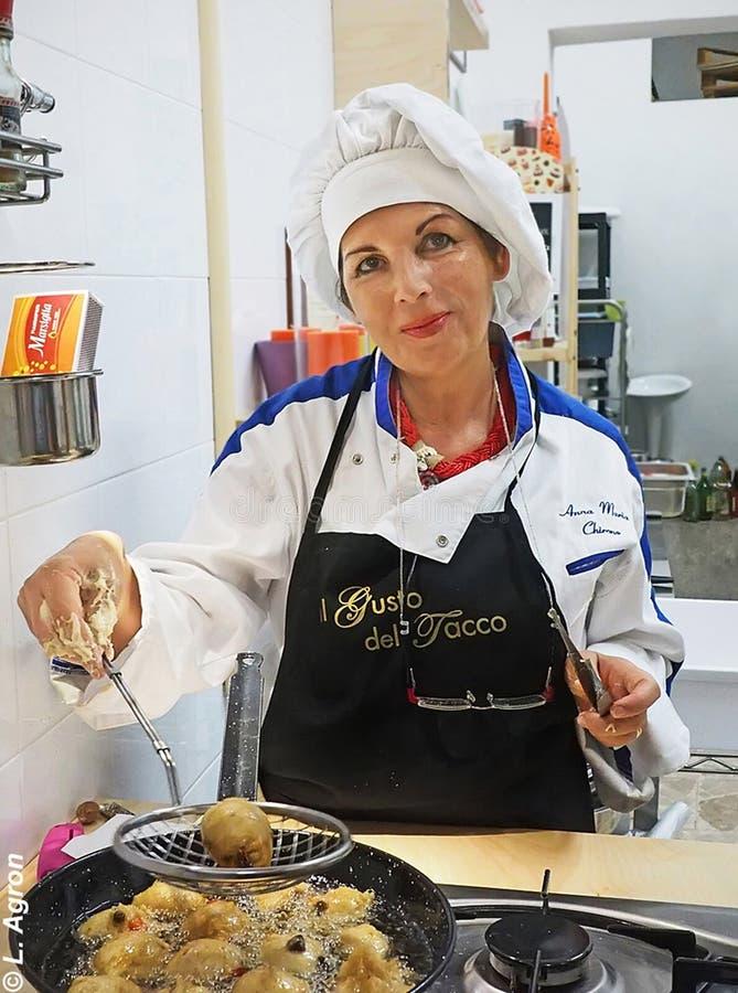 Anna Maria Chirones Włoska Kulinarna klasa zdjęcie stock
