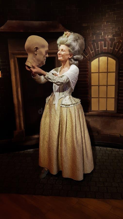 Marie Tussaud wax statue, Madame Tussaud`s Museum Vienna royalty free stock images