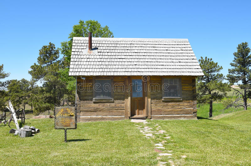 Anna Miller Museum Cabin stock foto