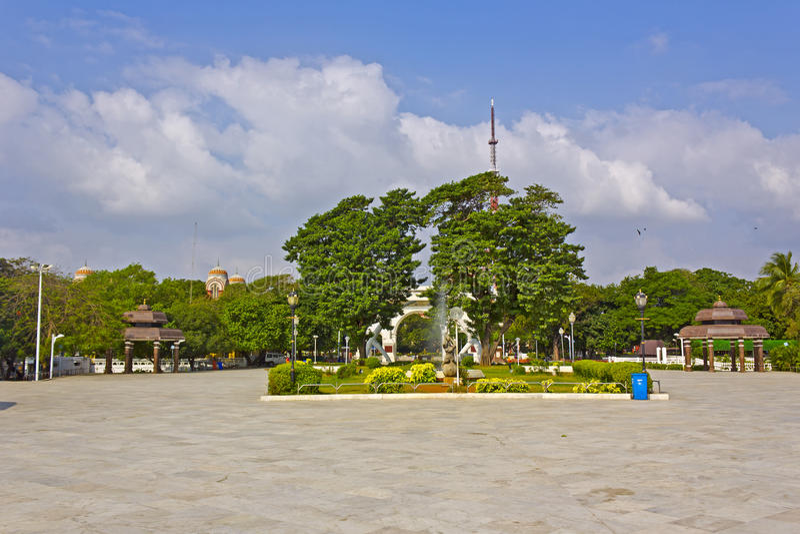 Anna Park in Chennai royalty-vrije stock afbeelding