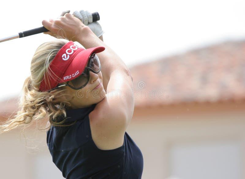 Anna Rawson, de Dames Europ van het golf stock fotografie