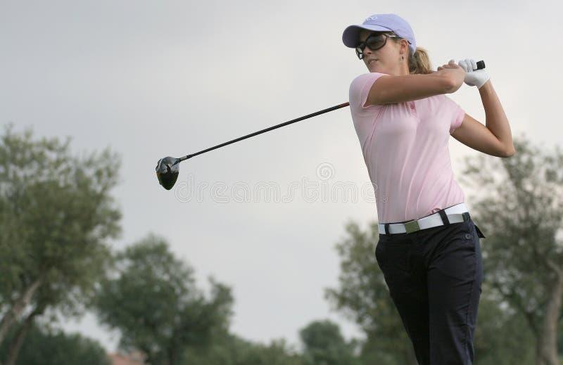 Anna Rawson, excursão européia das senhoras do golfe foto de stock