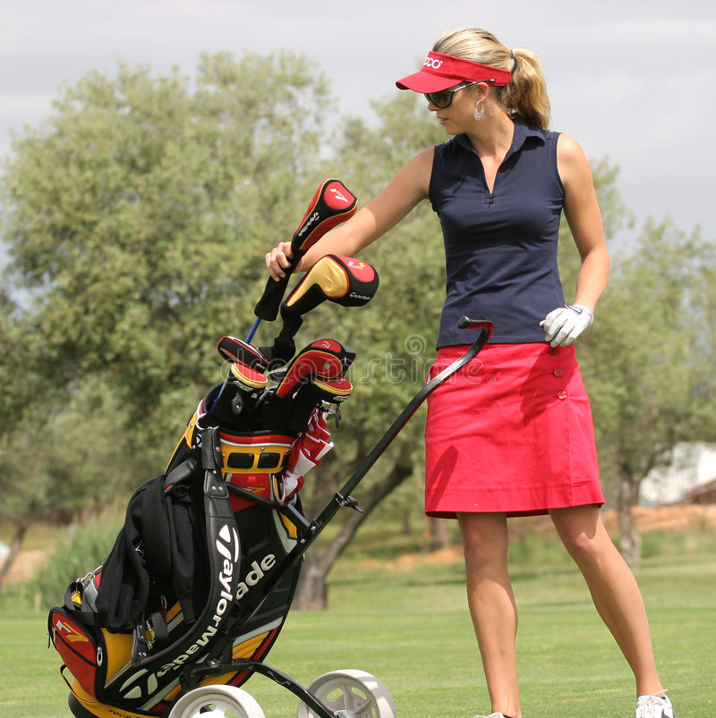 Anna Rawson, excursão européia das senhoras do golfe, fotografia de stock