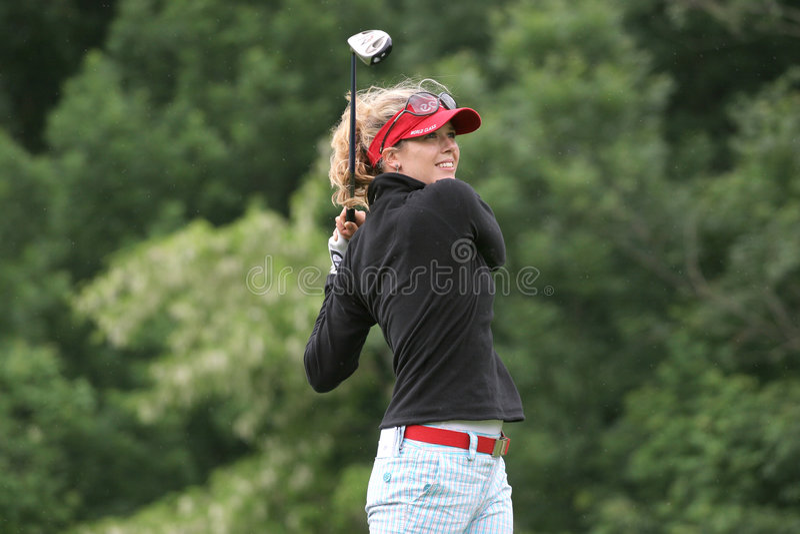Anna Rawson, Losone 2007, dames de golf européennes images stock