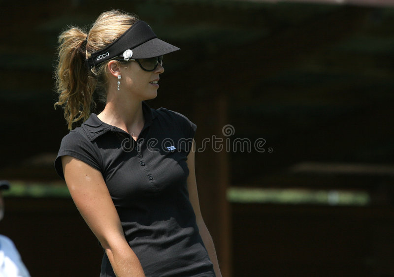 Anna Rawson, suíço do golfe abre, Losone, 2007 fotos de stock