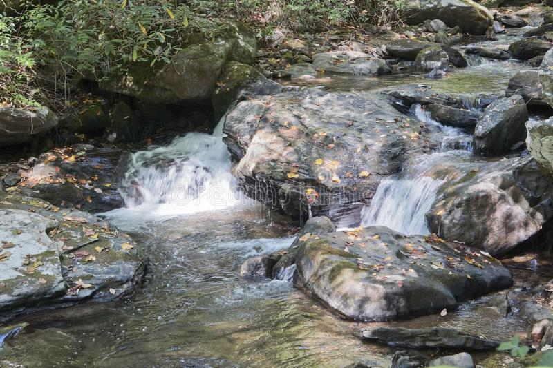 Waterfall in the Blue Ridge Maountains stock images