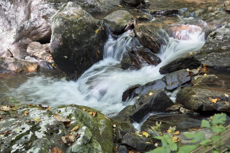 Waterfall in the Blue Ridge Mountains stock photography