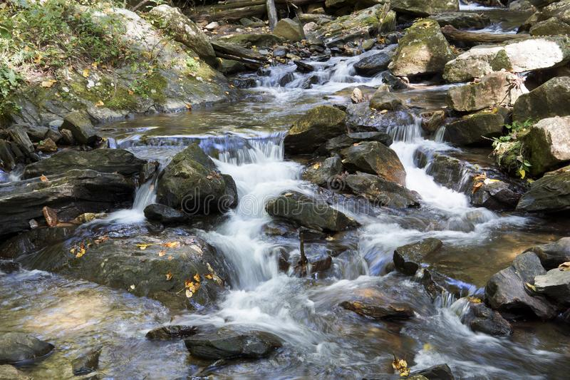 Waterfall in the Blue Ridge Mountains royalty free stock photos